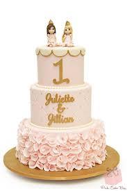 Princess Ruffle 1st Birthday Cake  Birthday Cakes