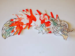 Chinese Hand Print Dragon Craft