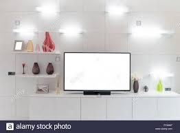 tv und regal im wohnzimmer zeitgenössischen stil holz möbel