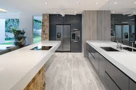 6x36 amelia mist floor tile modern kitchen new york by