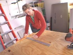 Mark Cut Lines On Plywood Using T Square