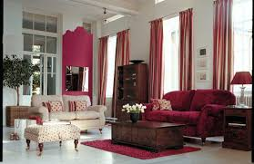 Living Room Curtain Ideas Brown Furniture by Trends In Living Room Curtains With Deep Reds Complementing Brown