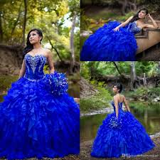 2017 new royal blue sweet 16 quinceanera dresses sweetheart beaded
