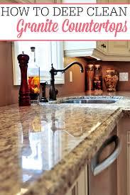 How To Deep Clean Granite Countertops Frugally Blonde