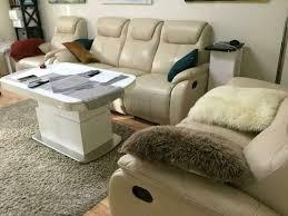 sofagarnitur 3 teilig aus weißem kunstleder