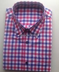 online shop 100 cotton blue red white gingham dress shirts custom