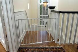 Gate For Top Of Stairs With Banister Stairway Special Safety Gate ... Model Staircase Gate Awesome Picture Concept Image Of Regalo Baby Gates 2017 Reviews Petandbabygates North States Tall Natural Wood Stairway Swing 2842 Safety Stair Bring Mae Flowers Amazoncom Summer Infant 33 Inch H Banister And With Gate To Banister No Drilling Youtube Of The Best For Top Stairs Design That You Must Lindam Pssure Fit Customer Review Video Naomi Retractable Adviser Inspiration Jen Joes Diy Classy Maison De Pax Keep Your Babies Safe Using House Exterior