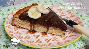 dessert rapide chocolat banane recette de tarte génoise chocolat banane dessert pour le goûter