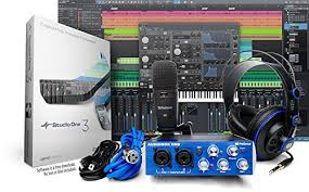 PreSonus AudioBox Studio With Headphones Microphone Mic Cable USB And StudioOne