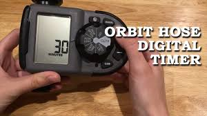 Hose Faucet Timer Orbit by Orbit Hose Digital Timer 1 Dial 1 Outlet Youtube