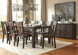 Alliance Furniture USA Trudell Golden Brown Rectangular Dining Room Extension Table W 8 Side Chairs