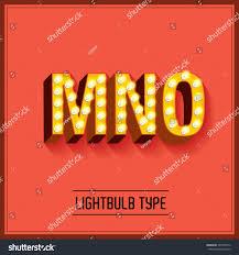 lightbulb typefacefont vectorillustration mno stock vector