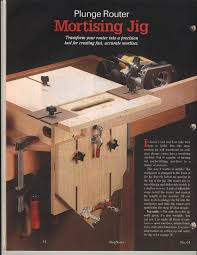 mortising jig thread mortise and tenon fixture using router
