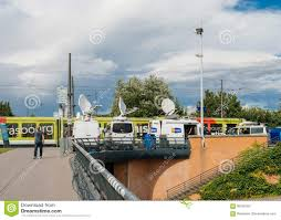 RTL N:TV TV Media Television Trucks With Multiple Satellite ... Pmtv Sallite Uplink Trucks For Broadcast Live Streaming Trucks At The Coverage Of Timothy Mcveighs Exec Flickr Side Loader New Way The Best To Transmit Data In Really Wired 3d Rendering On Road With Path Traced By Stock Espn Gameday Truck Was Parked Nearby 2012 Us Presidential Primary Covering Coverage Tv News Broadcast Live With Antenna And Sallite Tv Truck Parabolic Frm N24 Channel Media Descend On Jpl Nasas Mars Exploration Program Rear View Of White Television Multiple