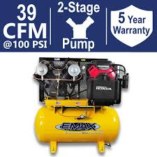 EMAX Industrial PLUS Series 60 Gal 18 HP 2 Stage Stationary