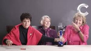 watch three adorable grandmas get high for the first time