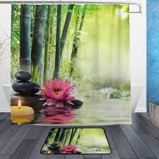 Amazoncom LORVIES Zen Concept Bathroom Set Polyester Fabric