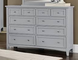 Vaughan Bassett Triple Dresser by Vaughan Bassett Bonanza Grey Bb26 Triple Dresser