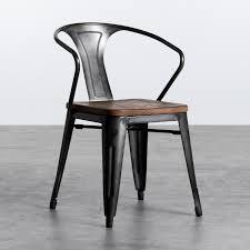 esszimmerstuhl aus stahl und holz industrial wood