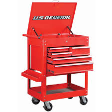 30 In 5 Drawer Glossy Red Tool Cart Tool Cart And Drawers