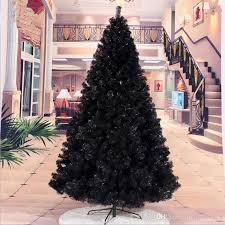 24 M 240CM Black Christmas Tree Decorated Gift Packages Decorations Gifts 240cm 24m