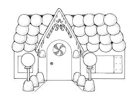 Gingerbread House With So Many Balloons Coloring Page