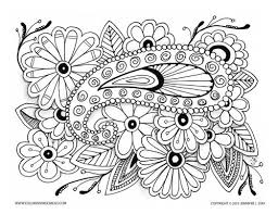 Surprising Color Pages For Adults Beautiful Coloring Page Paisley On Flowers And Grown Ups Stress