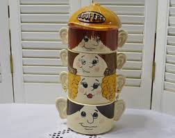 Vintage The Soupers Family Stacking Soup Bowl Set Of 4 With Lid Kitsch Kitchen Decor Retro