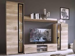 mirjan24 wohnwand bentley mediawand mit tv lowboard tv möbel farbe sonoma eiche schwarz mit led beleuchtung