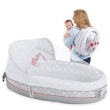 Lulyboo Baby Lounge Lights & Music Travel Bed in Grey Red
