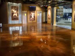 Poured Epoxy Flooring Kitchen by Copper Epoxy Floor Floor Finish For Many Commercial And