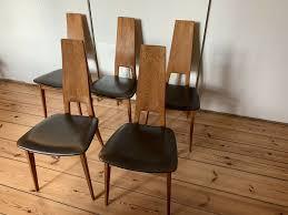 6 stühle eiche leder esszimmer 1975 ernst dettinger midcentury