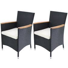 Amazon.com: Festnight Garden Wicker Patio Dining Chairs Black Poly ... Decor Market Siesta Wicker Side Chairs Black Finish Hk Living Rattan Ding Chair Black Petite Lily Interiors Safavieh Honey Chair Set Of 2 Fox6000a Europa Malaga Steel Ding Pack Of Monte Carlo For 4 Hampton Bay Mix And Match Stackable Outdoor In Home Decators Collection Genie Grey Kubu 2x Cooma Fnitureokay Artiss Pe Bah3927bkx2 Bloomingville Lena Gray Caline Breeze Finnish Design Shop Portside 5pc Chairs 48 Table