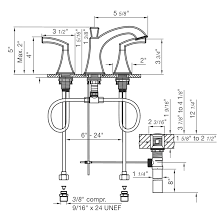 Faucet Aerator Assembly Diagram by Widespread Lavatory Faucet With Pop Up Drain Assembly Casablanca