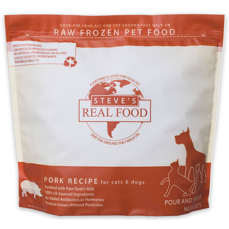 Steves Real Food 84515305 5 lbs Pork Nuggets for Dog & Cat Food