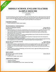 Example Of Teaching Teacher Resume Sample English Cv Free