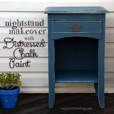 Distressed Chalk Paint Nightstand Makeover