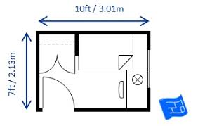 Bedroom Size For Twin Single Bed Sized To Code 7 X 10