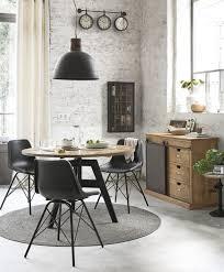 stuhl im industrial stil aus leder und metall schwarz maisons du monde