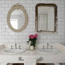 subway tile backsplash eclectic bathroom absolutely