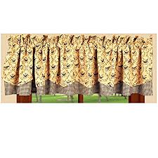 Jacobean Floral Country Curtains by New Primitive Country Black Bird Check Crow Curtain Window Valance