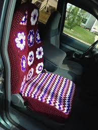 Betty Boop Seat Covers And Floor Mats by Crochet Car Seat Cover No Pattern Just Winged It Crochet