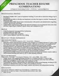 resume description of preschool combination resume sles writing guide rg