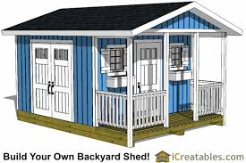 12x12 Shed Plans Pdf by Shed Plans With Porch Build Your Own Shed With A Porch