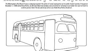 Rosa Parks Coloring Pages Bus Boycott And Page