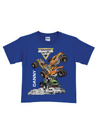 100 Monster Truck Shirts Jam Personalized Jam StackUp Royal Blue Boys T