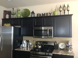 Best Home Decor Decorating Above The Kitchen Cabinets