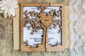 Tree Rustic Wedding Invitations Invite Cutom