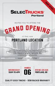 100 Used Trucks Portland Oregon Selec Grand Opening At New Location March 6th