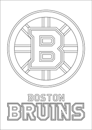 Click To See Printable Version Of Boston Bruins Logo Coloring Page